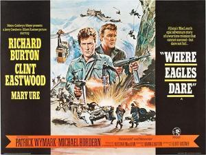 Where Eagles Dare, UK Movie Poster, 1968