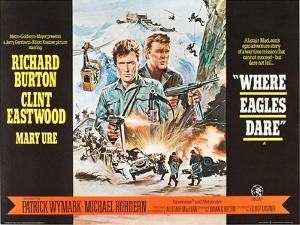 Where Eagles Dare, UK Movie Poster, 1968