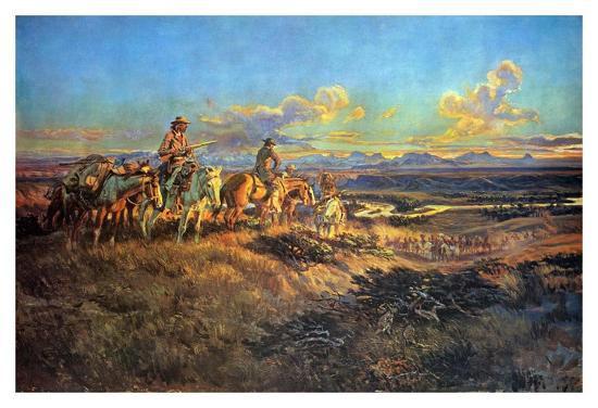 Where Guns Were Their Passports-Charles Marion Russell-Art Print
