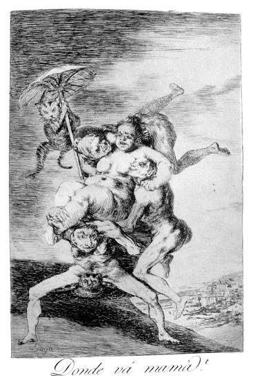 Where Is Mother Going?, 1799-Francisco de Goya-Giclee Print