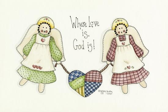 Where Love Is Angel-Debbie McMaster-Giclee Print