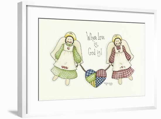 Where Love Is Angel-Debbie McMaster-Framed Giclee Print