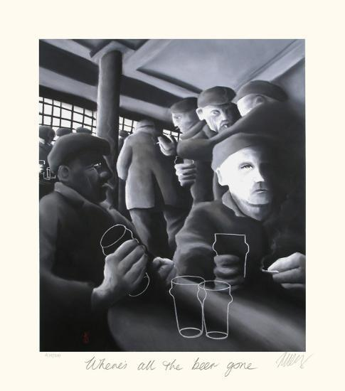 Where's All the Beer Gone-Mackenzie Thorpe-Collectable Print