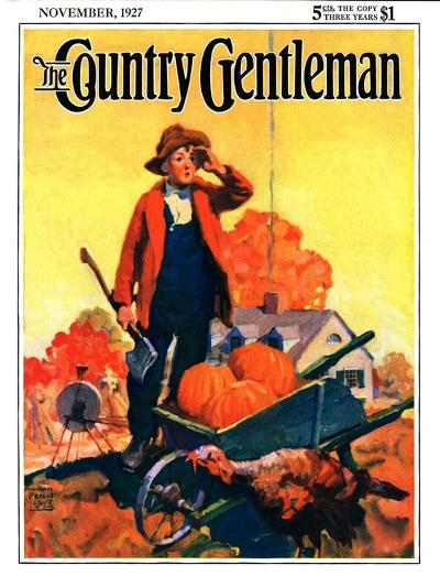"""Where's That Turkey?,"" Country Gentleman Cover, November 1, 1927-William Meade Prince-Giclee Print"