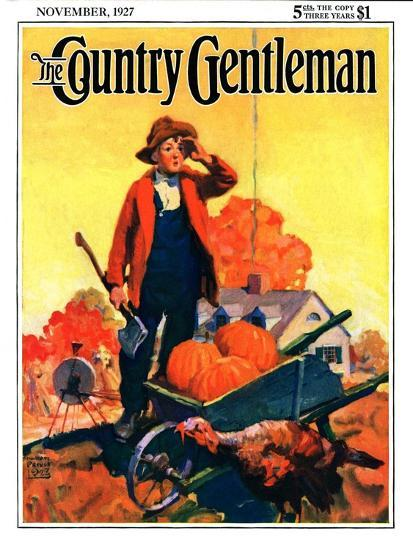 """""""Where's That Turkey?,"""" Country Gentleman Cover, November 1, 1927-William Meade Prince-Giclee Print"""