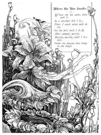 Where the Bee Sucks, 1895-Charles S Ricketts-Giclee Print