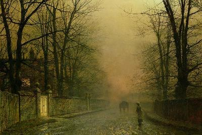 Where the Pale Moonbeams Linger-John Atkinson Grimshaw-Giclee Print