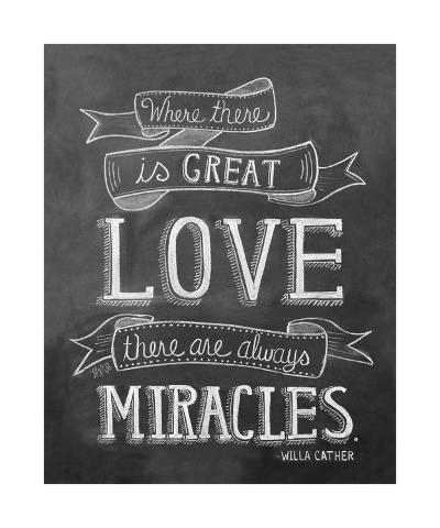 Where There Is Great Love There Are Always Miracles-L^A^ Pop Art-Giclee Print