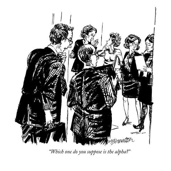 """""""Which one do you suppose is the alpha?"""" - New Yorker Cartoon-William Hamilton-Premium Giclee Print"""