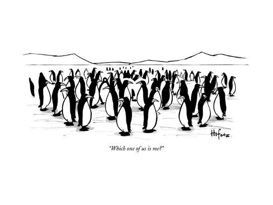 """""""Which one of us is me?"""" - New Yorker Cartoon--Premium Giclee Print"""