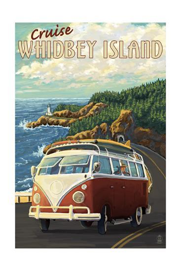 Whidbey Island, Washington Cruise-Lantern Press-Art Print