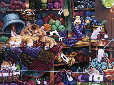 While Kittens are Away Mice Will Play-Jenny Newland-Giclee Print