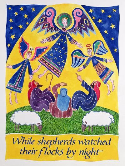 While Shepherds Watched their Flocks by Night-Cathy Baxter-Giclee Print