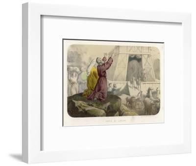 While the Animals Leave His Ark Noah Gives Thanks to God for Preserving Him from the Flood--Framed Giclee Print