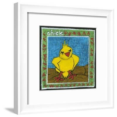 Whimsical Chick--Framed Art Print