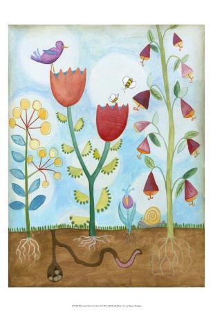 Whimsical Flower Garden I-Megan Meagher-Art Print