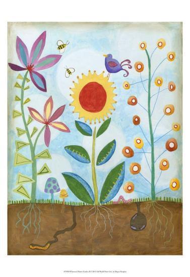 Whimsical Flower Garden II-Megan Meagher-Art Print