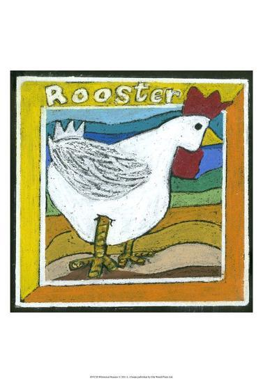 Whimsical Rooster--Art Print