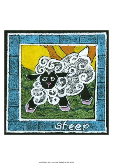 Whimsical Sheep--Art Print