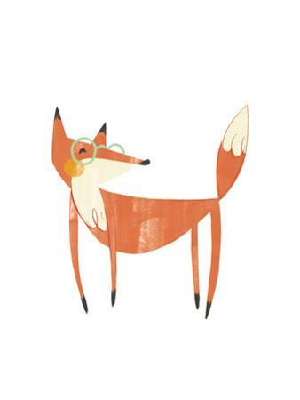 Whimsical-Style Fox Wearing Glasses