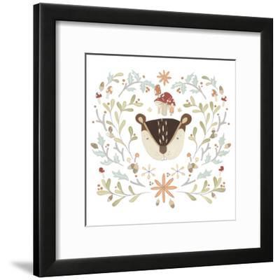 Whimsical Woodland Faces II-June Vess-Framed Art Print