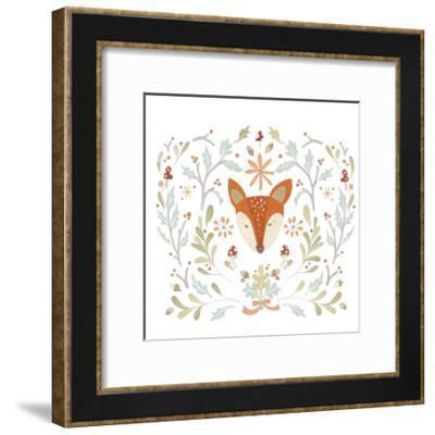 Whimsical Woodland Faces IV-June Vess-Framed Art Print