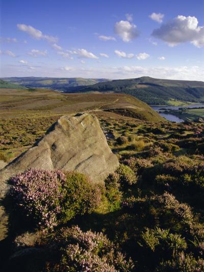 Whinstone Lee Tor and Derwent Moors, Derwent Edge, Peak District National Park, Derbyshire, England-Neale Clarke-Photographic Print