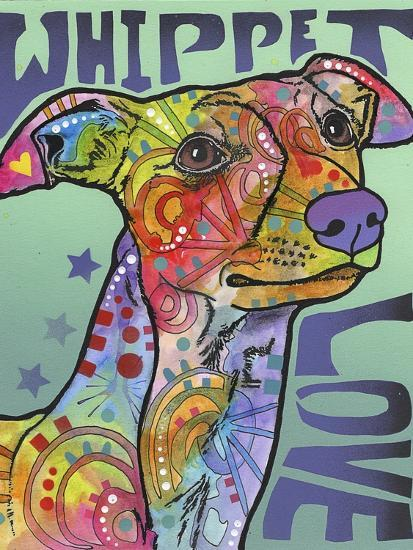 Whippet Love-Dean Russo-Giclee Print