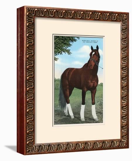Whirlaway, Kentucky Derby Winner--Framed Giclee Print