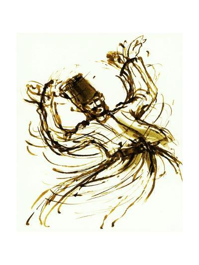 Whirling Dervish, Turkey, 2005, ink drawing--Giclee Print