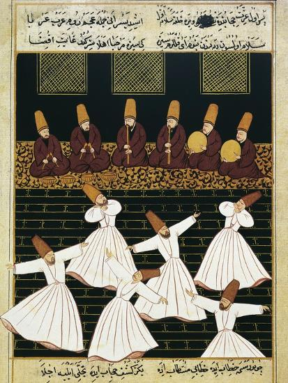 Whirling Dervishes (16th C)--Art Print