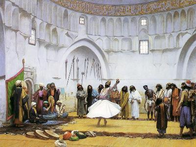 Whirling Dervishes, c.1895-Jean Leon Gerome-Giclee Print
