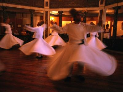 Whirling Dervishes, Istanbul, Turkey-Phil Weymouth-Photographic Print