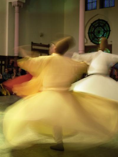 Whirling Dervishes, Sufis Dancing, Istanbul, Turkey, Europe-Bruno Morandi-Photographic Print
