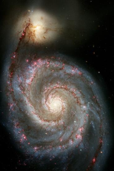 Whirlpool Galaxy--Photographic Print