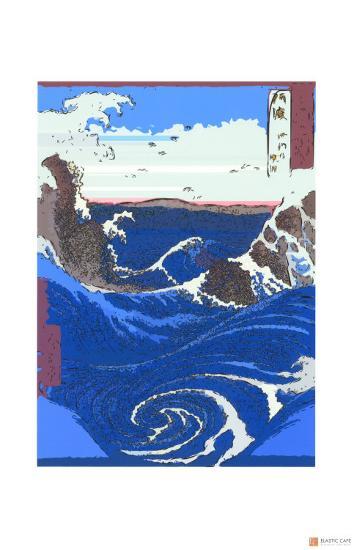 Whirlpools at Naruto-Ando Hiroshige-Giclee Print