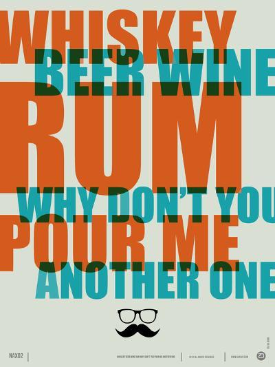 Whiskey, Beer and Wine Poster-NaxArt-Art Print