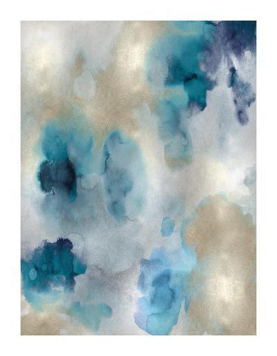 Whisper in Aqua II-Lauren Mitchell-Giclee Print