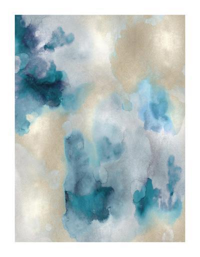 Whisper in Aqua IV-Lauren Mitchell-Giclee Print