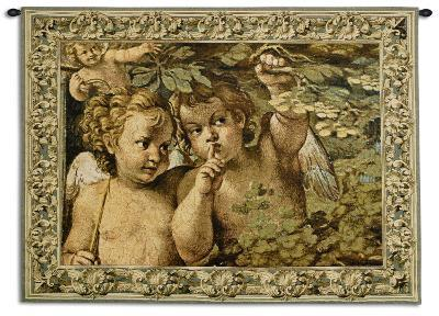 Whispering Angels-Agostino Carracci-Wall Tapestry