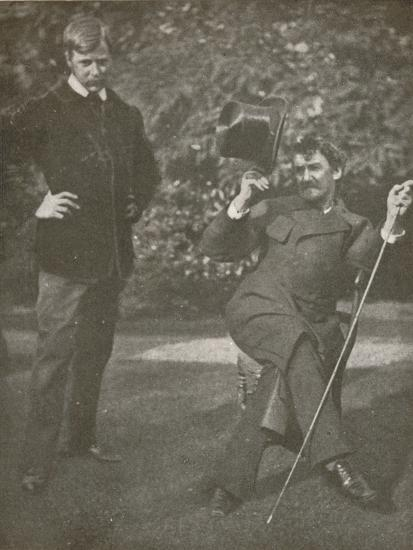 'Whistler and Menpes', c1885, (1904)-Unknown-Photographic Print