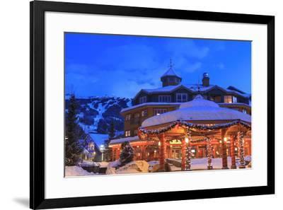 Whistler Village, Whistler Mountain, British Columbia, Canada, site of the Winter Olympics in 2010-Stuart Westmorland-Framed Photographic Print