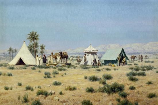 Whitaker in the Tunisian Sahara-Francesco Lojacono-Giclee Print