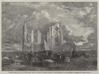 Whitby Abbey, from the Churchyard, in the Exhibition of the Society of Painters in Water Colours-George Haydock Dodgson-Giclee Print