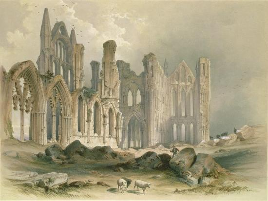 Whitby Abbey from the North-East-William Richardson-Giclee Print