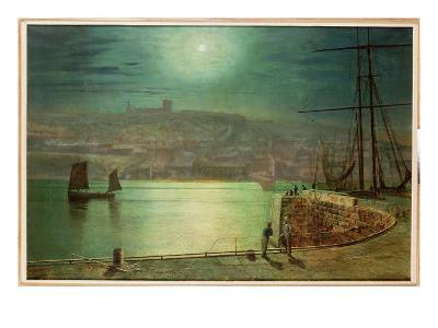 Whitby Harbour by Moonlight, 1870-Grimshaw-Giclee Print