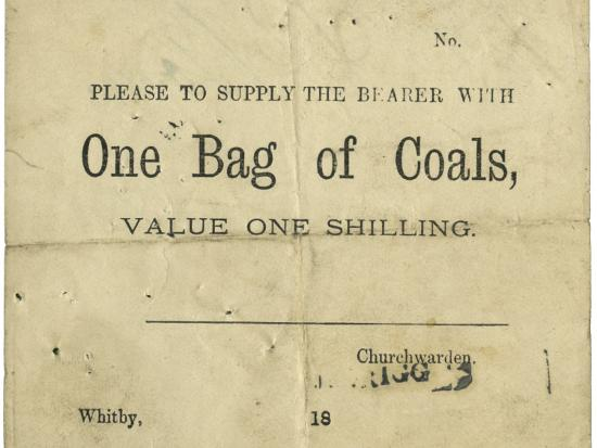 Whitby Parish Poor Relief Voucher for Coal-Peter Higginbotham-Photographic Print