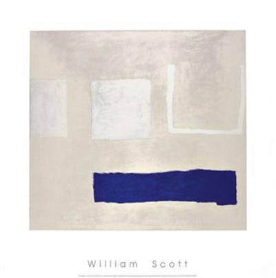 White and Blue, c.1960-William Scott-Serigraph