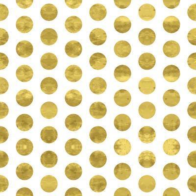White and Gold Pattern. Abstract Geometric Modern Polka Dot Background. Vector Illustration.Shiny B-Lami Ka-Art Print