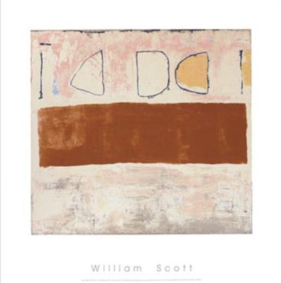 White and Ochre, c.1960-William Scott-Serigraph